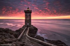 Finistère ~ France by Alessio Andreani on World Most Beautiful Place, Beautiful Places, Great Pictures, Travel Pictures, Travel Photos, Lighthouse Photos, Brest, Best Sunset, Stunning Photography