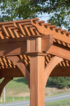 Santa Fe Pine Pergola from DutchCrafters Amish Furniture Pergola Canopy, Pergola Swing, Deck With Pergola, Cheap Pergola, Wooden Pergola, Covered Pergola, Backyard Pergola, Pergola Shade, Patio Roof