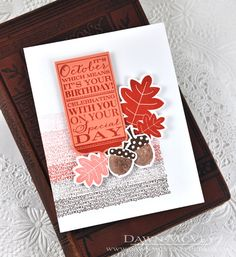 October Birthday Card by Dawn McVey for Papertrey Ink (September 2014)