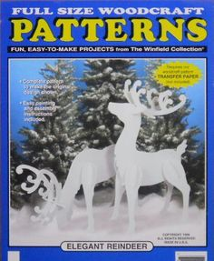 Elegant Reindeer (large Size) Wood Craft Pattern