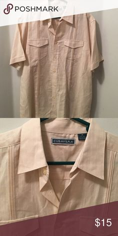 Cubavera shirt Cream color Dress Shirt Cubavera Shirts Casual Button Down Shirts