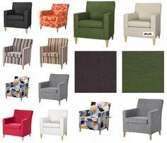 IKEA KARLSTAD Chair SLIPCOVER Small Armchair Cover SIVIK Dillne BLEKINGE Eninge #IKEA