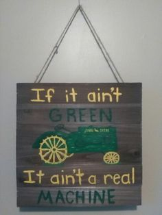 Painted this for John Deere room