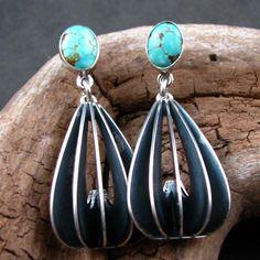 Turquoise navajo earrings