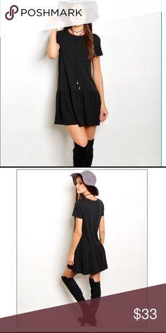 Jersey mini dress Shot sleeve round neck jersey mini dress. 65% Rayon 30% cotton 5% spandex Dresses Mini