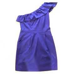 Royal Blue one shoulder dress. Size M Great condition. Only worn once to a wedding. 55% polyester. 42% cotton . 3% spandex. Hand wash. Dresses One Shoulder