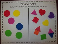 Ideas for teaching shapes, including a FREE shape sort, art activities, and great shape-related books for read aloud! Preschool Colors, Math Classroom, Kindergarten Activities, Fun Math, Preschool Activities, Preschool Shapes, Classroom Ideas, Kindergarten Rocks, Educational Activities