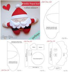 Mimo Artes: Moldes Grátis de Natal Felt Christmas Stockings, Felt Christmas Decorations, Felt Christmas Ornaments, Felt Crafts Diy, Bear Crafts, Felt Diy, Christmas Projects, Christmas Time, Christmas Tree Template