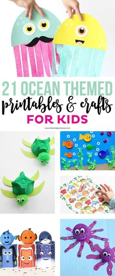 Check out these 21 Ocean Themed Printables and Crafts for Kids! Check out these 21 Ocean Themed Printables and Crafts for Kids! These will be great for an ocean themed party! Ocean Activities, Toddler Activities, Spanish Activities, Ocean Games, Vocabulary Activities, Learning Spanish, Sea Crafts, Ocean Theme Crafts, Water Themed Crafts