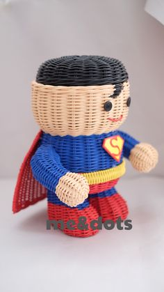 superman rattan baskets