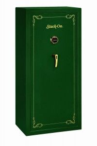 Stack-On SS-22-MG-C 22 Gun Fully Convertible Security Safe with Combination Lock Matte Hunter Green