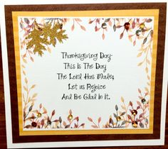 Religious Thanksgiving by sentimentsbydesign1 on Etsy