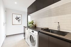 Fantastic thing - visit our post for lots more plans! Laundry Chute, Laundry Room, Spotted Gum Flooring, Double Shower, Bathroom Layout, Bathroom Ideas, Shared Bathroom, House Goals, Ground Floor