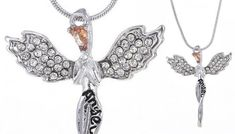 Affordable Guardian Angel Made With Crystals From Swarovski® - 2 Colours for just £8.00 - Jewellery (Gift idea) Feel angelic with theGuardian Angel Necklace      Made with Crystals from Swarovski®      Available in gold or silver tones      Pretty guardian angel pendant sits on a delicate chain      Secure lobster claw clasp closure      Chain measures approximately 18-20in      Comes...