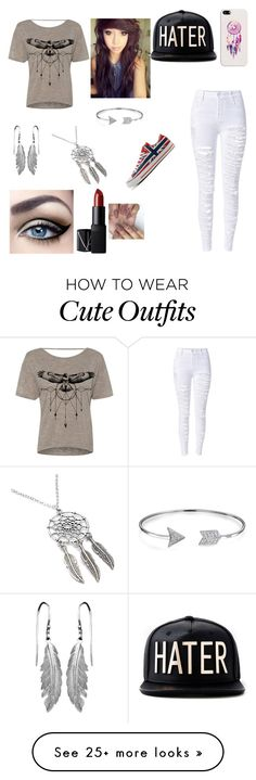 """""""Cute Outfit #27"""" by olivia-awes0me on Polyvore featuring Casetify, NARS Cosmetics, Bling Jewelry, Converse, women's clothing, women, female, woman, misses and juniors"""