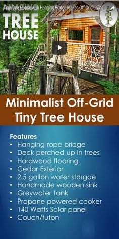 Tiny House Tour: Tour of a Minimalist Off-Grid Tiny Tree House | In This Guide, You Will Learn The Following; Treehouse California, Treehouse Airbnb, Treehouse Rentals, Watsonville Treehouse Airbnb, Vrbo Santa Cruz Treehouse, Treehouse Space San Francisco, Treehouse Hotel Big Sur, Tree Houses San Francisco California, Etc.