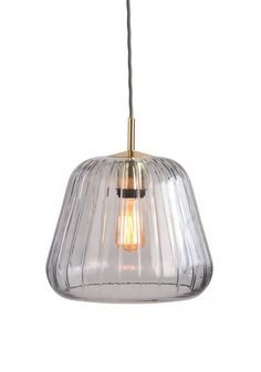 Ewer Pendant Lamp in Smoke Grey and Polished Brass. A stylish, artisan pendant light, designed by Aaron Probyn. £69. MADE.COM