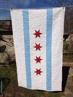oh, Chicago.  your flag is so perfect for quilting!  xoxoxo