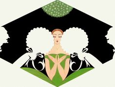 Not majorly my favorite, but Erte's negative space use once again blows my mind.