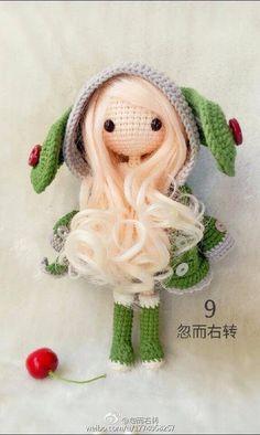♡ Kawaii Crochet, Cute Crochet, Crochet Crafts, Yarn Crafts, Sewing Crafts, Knit Crochet, Amigurumi Doll, Amigurumi Patterns, Doll Patterns