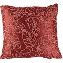 "Cranberry Silk Road 18"" Square Floral Throw Pillow"