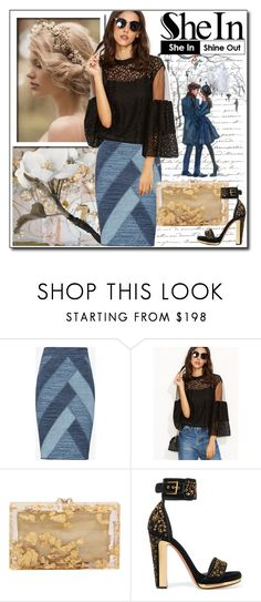 """""""Untitled #564"""" by istrijana ❤ liked on Polyvore featuring BCBGMAXAZRIA, Charlotte Olympia and Alexander McQueen"""
