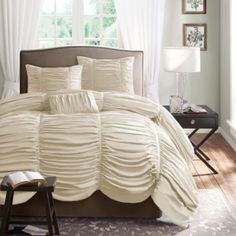Madison Park Newport 4-pc. Ruched Duvet Cover Set   found at @JCPenney  Love this & I'm probably about to order it since it's on sale! :)