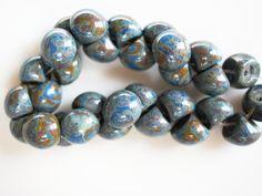 Czech Glass Mushroom Button Beads 9x8mm