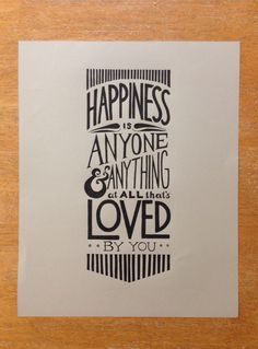 Typographic quote that I drew for a friend :)