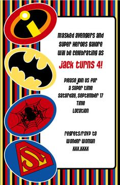 Superhero Newspaper Invitation Template superhero newspaper ...