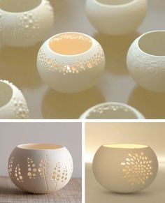Idea for porcelain tea light holders