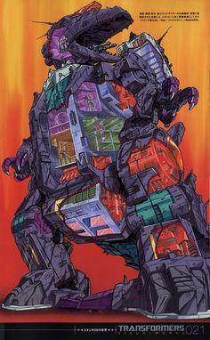 decepticons dinosaur dinosaurer galvatron mecha megatron nonaka_tsuyoshi scrapper starscream transformers trypticon