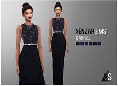 Kenzar Sims: Gabriel dress • Sims 4 Downloads