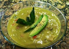 Meatless Monday: Avocado Cream of Mushroom Soup |  Reboot With Joe  I have actually made this and I loved it!!!!!! I did add orange bell peppers to it as well.
