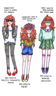 this is me!!! I often switch between the MGMT and VW girl..sometimes dressing VW look while listening to MGMT XD