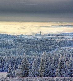 Výsluní in Krušné hory (North Bohemia), Czechia
