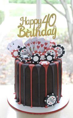 hbd cake for men ~ hbd cake ; hbd cake for men ; 35th Birthday Cakes, Birthday Cake For Him, Vegas Birthday, Casino Party Decorations, Casino Theme, Vegas Cake, Poker Cake, Cake For Boyfriend, Casino Cakes
