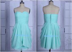 Mint Bridesmaid Dress Short Sweetheart Bridesmaid by HelloDress, $85.00