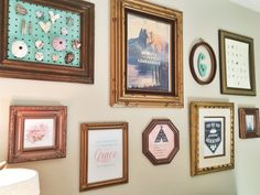 Gallery Wall in a Camping-Themed Nursery - rustic and chic!