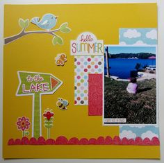 Scrapbook Layout using FREE shape of the week 7/10 by Expression Avenue