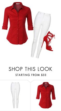 """""""Red"""" by shawanda-lanette-elam-taylor ❤ liked on Polyvore featuring Topshop, LE3NO and Giuseppe Zanotti"""