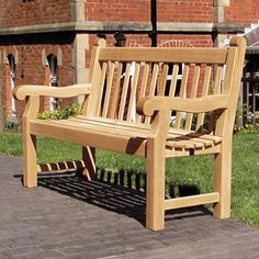 Rawcliffe Seat is traditionally styled with a heavyweight construction using FSC® certified Hardwood. #Seating #Wooden #FSC #Hardwood #Seat #GlasdonUK