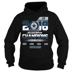 Dallas Cowboys 2018 NFC East division champions 2007 2009 2014 2016 Hoodie Nfc  East Division 87c7328e2