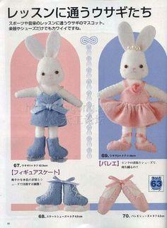 Bunny Doll. Kawaii. free pattern