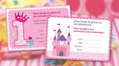 Invitaciones primer cumple de Disney Princesa | Disney Babble