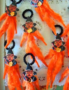 Vintage Style / Halloween Ornaments / Three by chocolateletters, $7.50