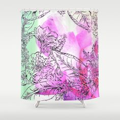 The+Rose+Party+Shower+Curtain+by+Vikki+Salmela+-+$68.00