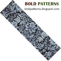 peyote+stitch+patterns | Bead Pattern (peyote stitch), bracelet