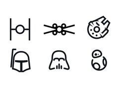 Resultado de imagen de star wars minimalist
