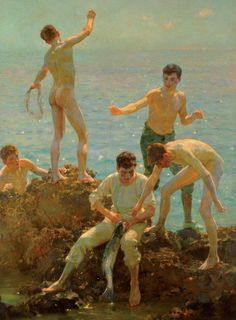 "radstudies: "" Henry Scott Tuke (English, 1858-1929) Falmouth Poly Boys """